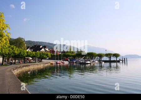 Lake view in Zug, Switzerland - Stock Photo