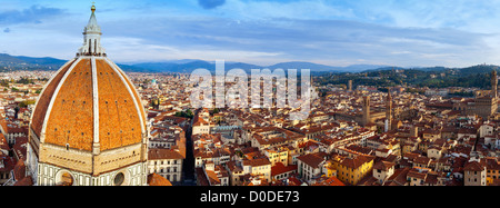 Panoramic view of Florence (Tuscany,Italy) - Stock Photo