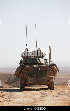 U.S. Marines 4th Light Armored Reconnaissance ride in LAV-25 or Light Armored Vehicle in southern portion Afghanistan's - Stock Photo
