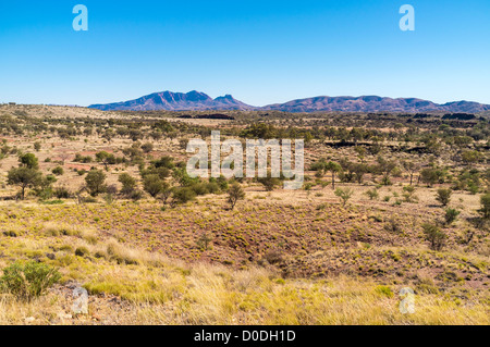 Dramatic Mount Sonder in the West MacDonnell Ranges near Alice Springs in the Red Centre of the Northern Territory - Stock Photo