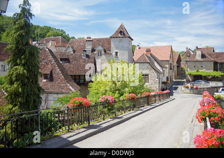 France: the pretty village of Carrenac - Stock Photo