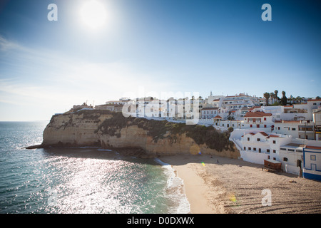 Carvoeiro,, a town on the  Algarve in Portugal - Stock Photo