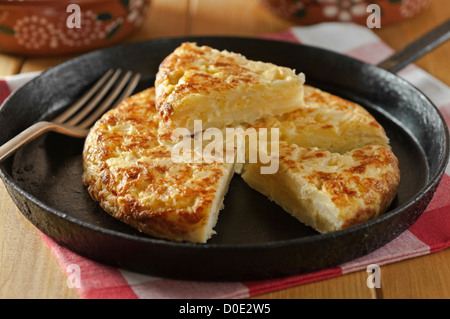 Tortilla Spanish potato omelet - Stock Photo