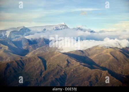 Aerial view of the mountain Mururata, Bolivia - Stock Photo