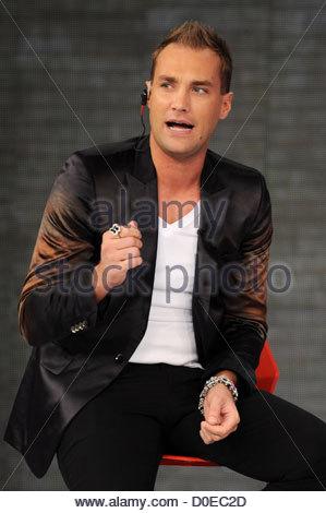 Calum Best appears on Italian TV show 'Quelli che il calcio' Milan, Italy - 31.10.10 - Stock Photo