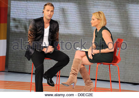 Calum Best appears on Italian TV show 'Quelli che il calcio' Milan, Italy - 31.10.10 - Stock Photo