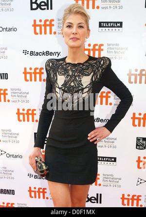 Rosamund Pike The 35th Toronto International Film Festival - 'Barney's Version' premiere arrival at the Roy Thomson - Stock Photo