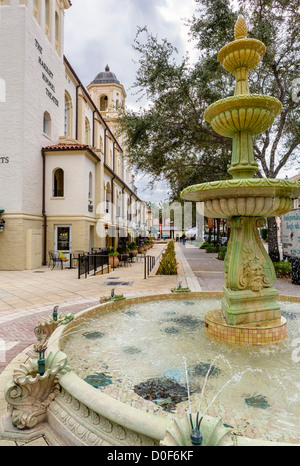 Cityplace development by the Harriet Himmel Theater, South Rosemary Avenue, West Palm Beach, Treasure Coast, Florida, - Stock Photo