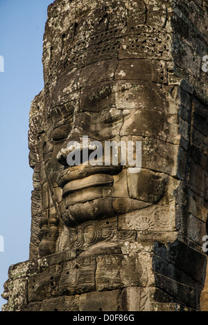 the bayon temple near angkor wat in cambodia in south east. Black Bedroom Furniture Sets. Home Design Ideas