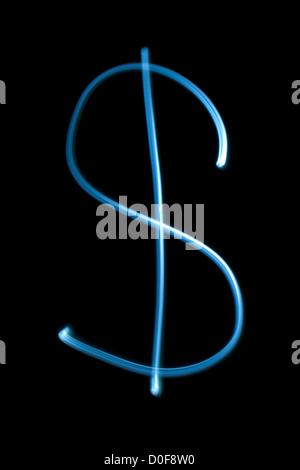 Dollar sign from natural neon light. - Stock Photo