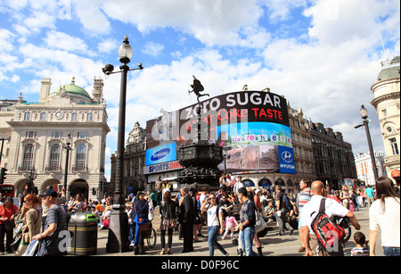 Picadilly Circus, London, England UK - Stock Photo