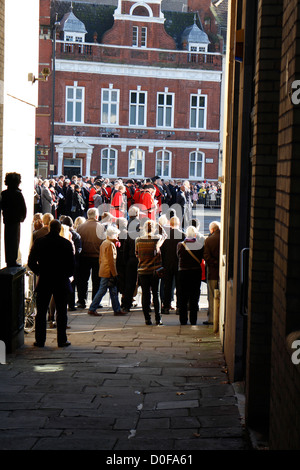 The men and women of Remembrance Sunday in Bristol 2012 - Stock Photo