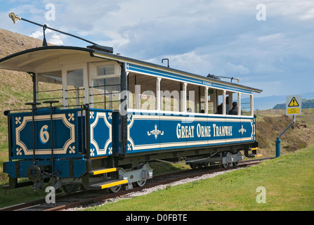 Wales, Llandudno, Great Orme Tramway, dates from 1903 - Stock Photo