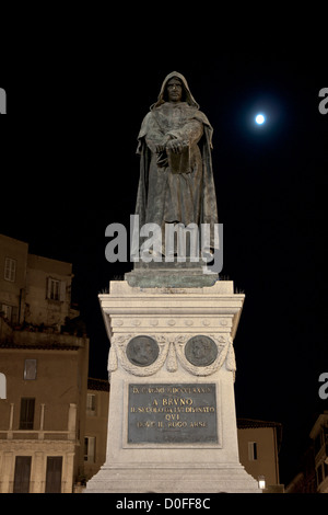 Monument to Giordano Bruno in Campo dei Fiori in Rome - Stock Photo