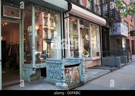 9th Street, Shops, East Village, Manhattan, New York City, USA - Stock Photo