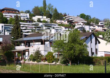Houses in Switzerland - Stock Photo