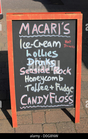 Macari's ice-cream parlor on the sea front at Worthing West Sussex England UK - Stock Photo