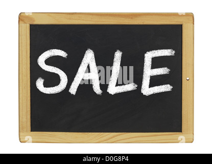 blackboard with Sale written on it - Stock Photo