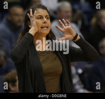 Nov. 25, 2012 - Cincinnati, Ohio, USA - Duke University  woman's head  basketball coach JOANNE P. MCCALLIE  calls - Stock Photo