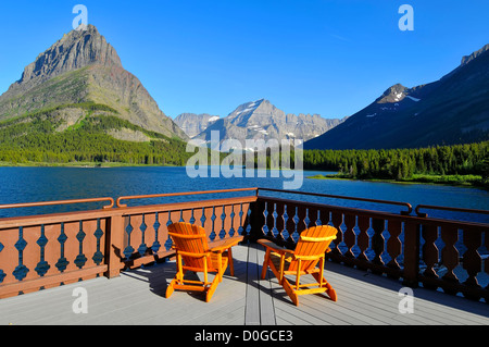 Many Glacier Hotel Glacier National Park Montana MT US