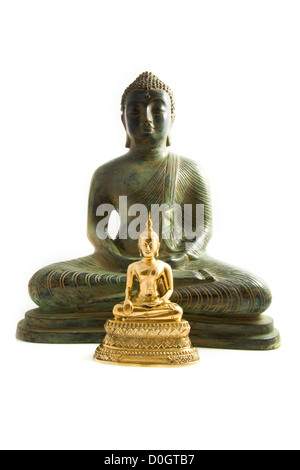 Different type of budha's isolated over white - Stock Photo