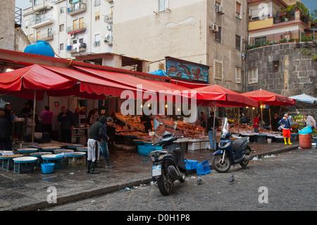 Mercato di Porta Nolana seafood market central Naples city La Campania region southern Italy Europe - Stock Photo