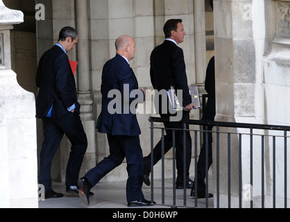 Prime Minister David Cameron arrives at the Houses of Parliament to attend Prime Minister's Questions London, England -