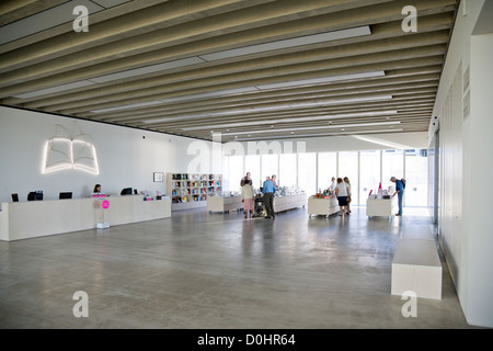 An interior view of the New Turner Gallery in Margate. - Stock Photo