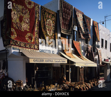 Carpet Shop in Market, Marrakech, Morocco, North Africa - Stock Photo