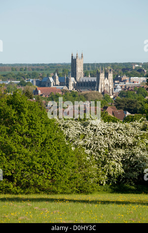 A view of Canterbury Cathedral. - Stock Photo