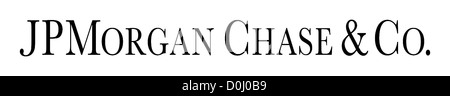 Logo of the American Bank JP Morgan Chase & Co. with seat in New York. - Stock Photo