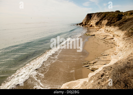 Gaviota Coast along Highway 101 north of Santa Barbara on the Central Coast of California USA - Stock Photo