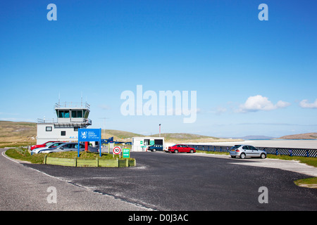 A Vview of Barra Airport. - Stock Photo