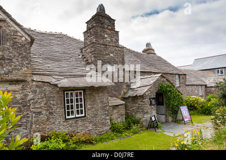 The Old Post Office, a historic building in Tintagel. - Stock Photo