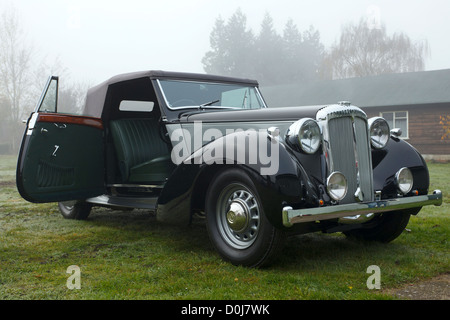 A rare vintage Daimler DB18 Drophead Coupe car used by Winston Churchill in his 1944 and 1949 election campaigns, - Stock Photo