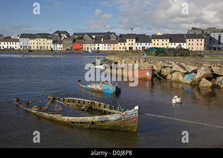 Boat graveyard in the Claddagh, Galway, Ireland. - Stock Photo