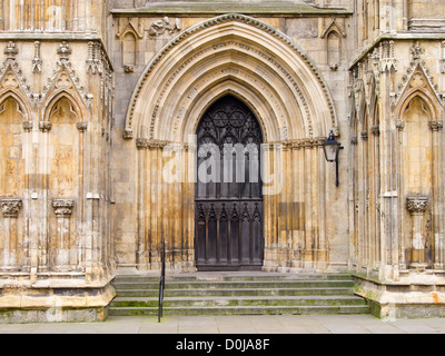 The west front of york minster and on the left the dean for West window york minster