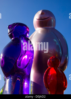 The Jelly Baby sculpture created by Italian pop artist Mauro Perucchetti. - Stock Photo