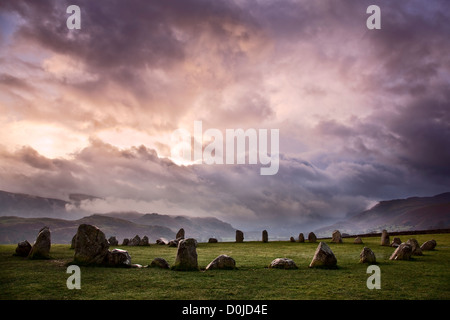 Castlerigg Stone Circle in the Lake District National Park. - Stock Photo