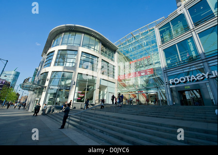 The entrance to the Arndale Shopping Centre in Manchester. - Stock Photo
