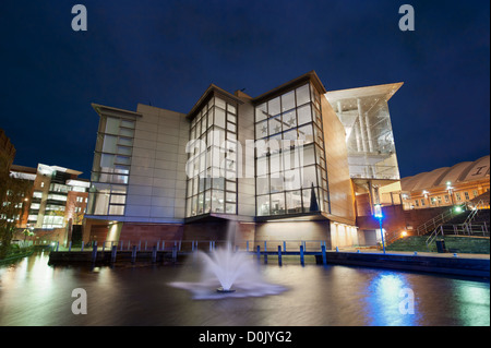 A view of the Bridgewater Hall in Manchester. - Stock Photo