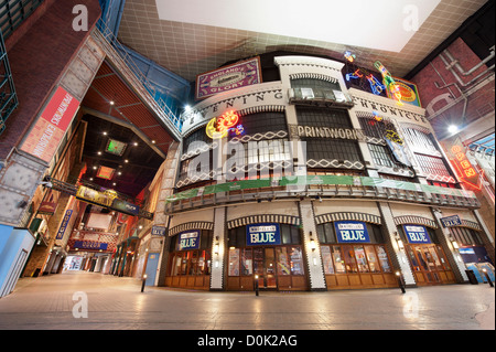 Inside the Printworks Entertainment Complex in Manchester. - Stock Photo