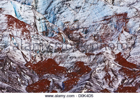 Located in South Eastern Iceland Svinafellsjokull is one many outlet glaciers massive Vatnajokull glacier EarthÆs - Stock Photo