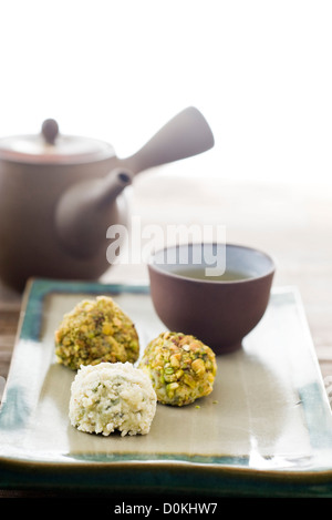White and green truffles - Stock Photo