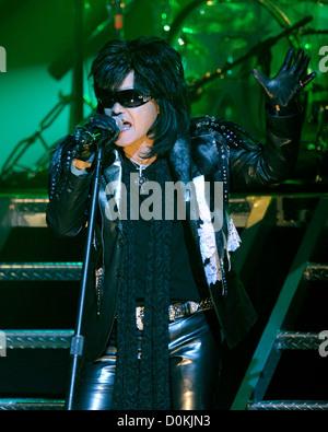 Toshimitsu 'Toshi' Deyama of 'X Japan' performing on stage at Massey Hall. Toronto CanadaDominic - Stock Photo