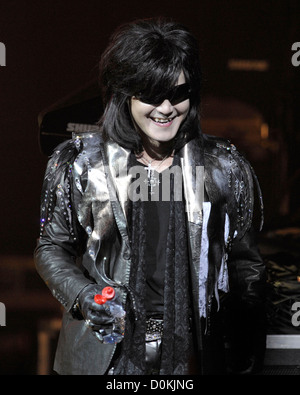 Toshimitsu 'Toshi' Deyama of 'X Japan' performing on stage at Massey Hall. Toronto, Canada - 07.10.10 - Stock Photo