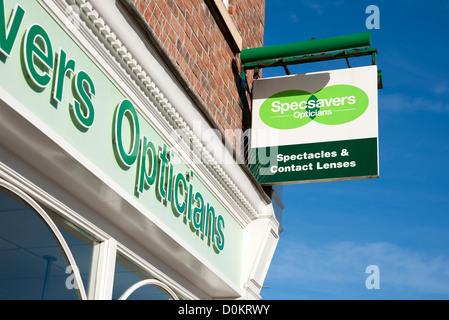 Specsavers Opticians sign England UK United Kingdom GB Great Britain - Stock Photo