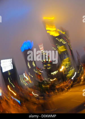 financial centre downtown, euro, Germany, Hessen, Frankfurt a. Main - Stock Photo