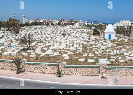 Islamic cemetery in mausoleum of Habib Bourguiba first president of Tunisia. Monastir city, Tunisia - Stock Photo