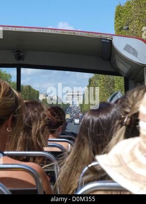 Paris, Arc de Triomphe, Champs Elysees, France - Stock Photo